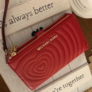 ♥️ 3 in 1 new MK double zipper wallet